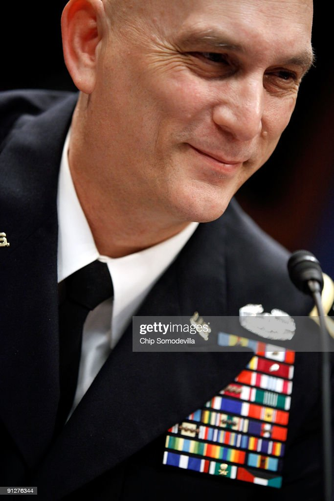 U.S. Army General <a gi-track='captionPersonalityLinkClicked' href=/galleries/search?phrase=Ray+Odierno&family=editorial&specificpeople=3093683 ng-click='$event.stopPropagation()'>Ray Odierno</a>, commander of U.S. and international forces in Iraq, testifies before the House Armed Services Committee at the U.S. Capitol September 30, 2009 in Washington, DC. Odierno testified that as the frequency and level of violence in Iraq continues to decline that troops can be withdrawn from Iraq faster than anticipated.