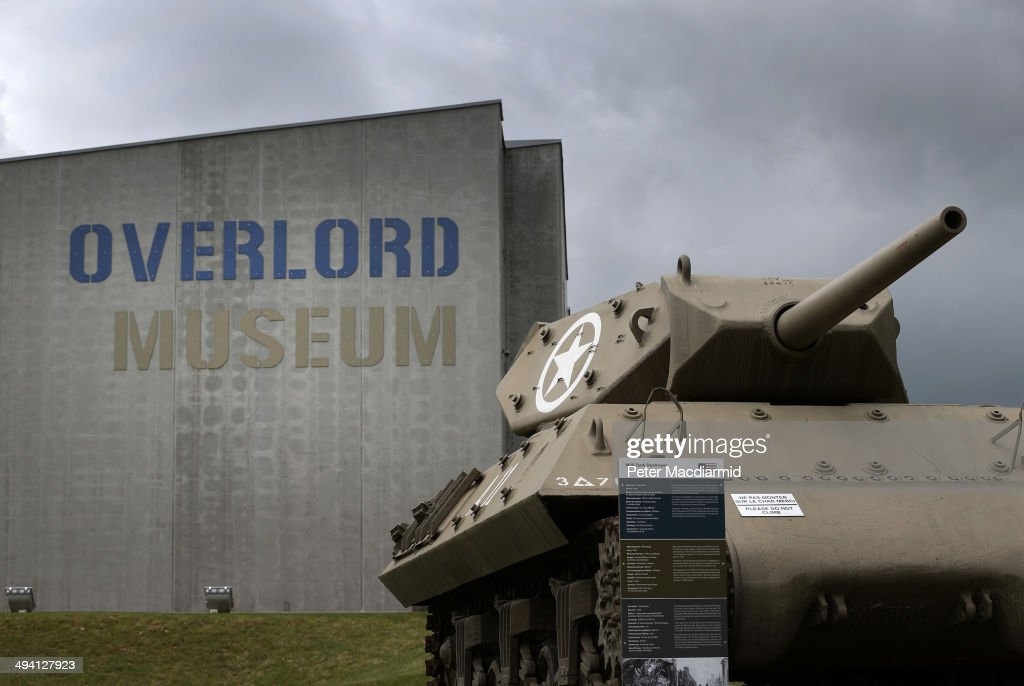 Army M10 Tank Destroyer sits outside the Overlord Museum on May 7 2014 in Colleville sur Mer France The Allied invasion to liberate mainland Europe...