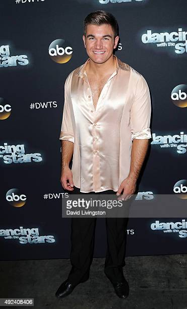 Army National Guard Specialist Alek Skarlatos attends 'Dancing with the Stars' Season 21 at CBS Television City on October 12 2015 in Los Angeles...