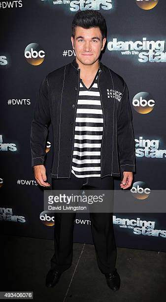 Army National Guard Specialist Alek Skarlatos attends 'Dancing with the Stars' Season 21 at CBS Television City on October 19 2015 in Los Angeles...