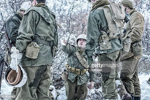 NACH DEM ZWEITEN WELTKRIEG UNS Armee Soldaten erste Sieg E-Mail schreiben von zu Hause