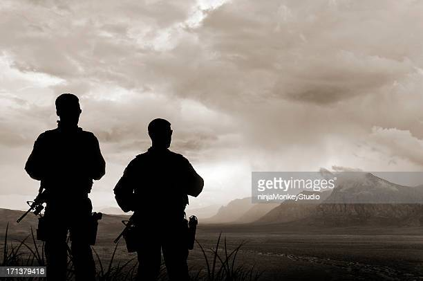Army Soldiers in the Valley of Death