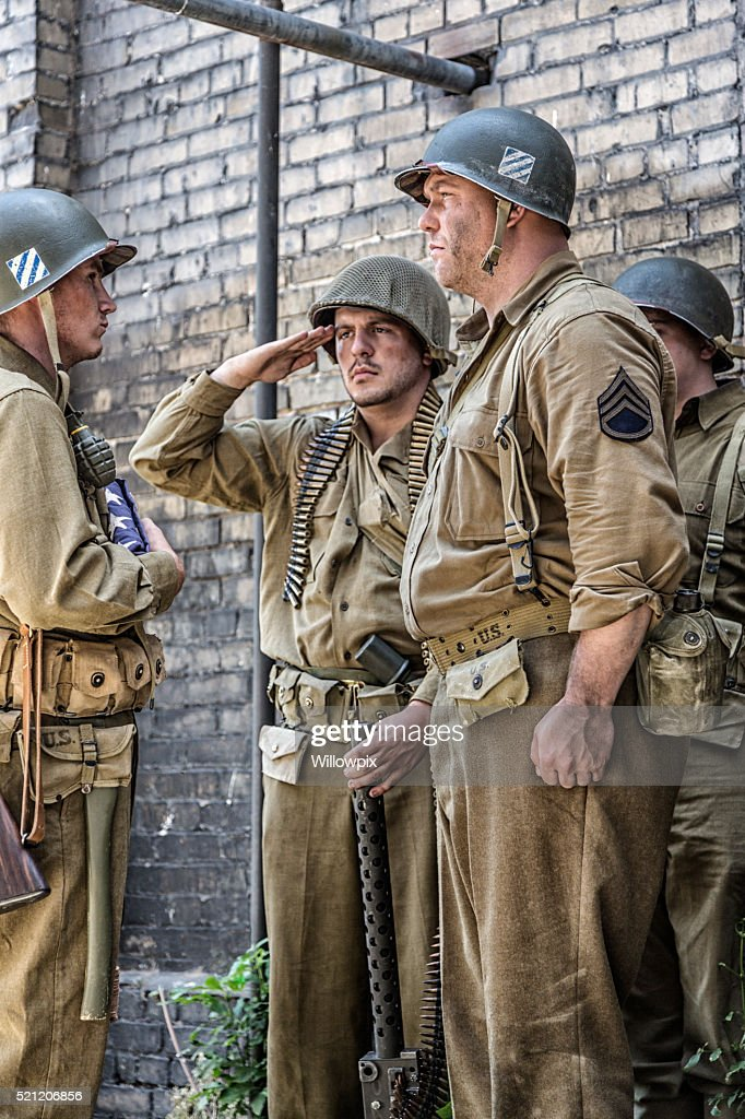 American soldier ww2 saluting
