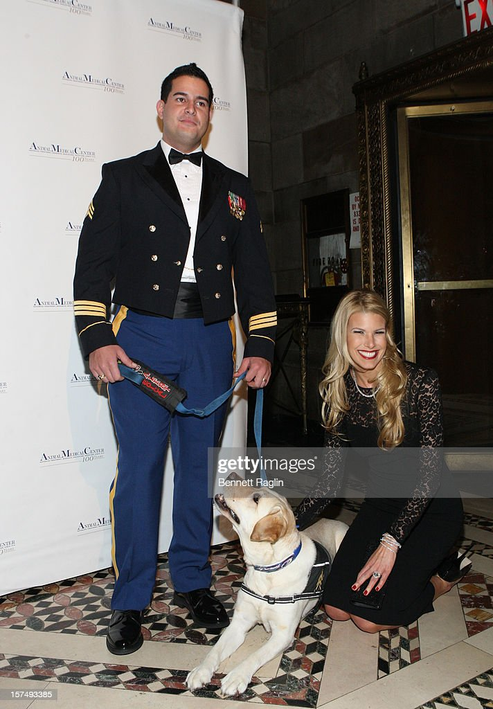 U.S. Army Veteran Will Pagan, service dog Oprah, and Beth Ostrosky Stern attend The Animal Medical Center's TOP DOG Gala at Cipriani 42nd Street on December 3, 2012 in New York City.