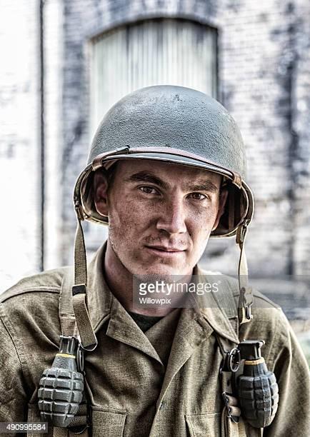 US Army seconda guerra mondiale di fanteria combattere soldato primo piano