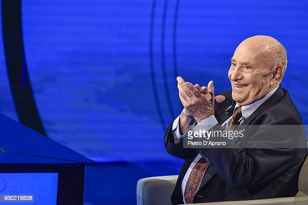 Arnaldo Pomodoro attends 'Che Tempo Che Fa' tv show on December 18 2016 in Milan Italy