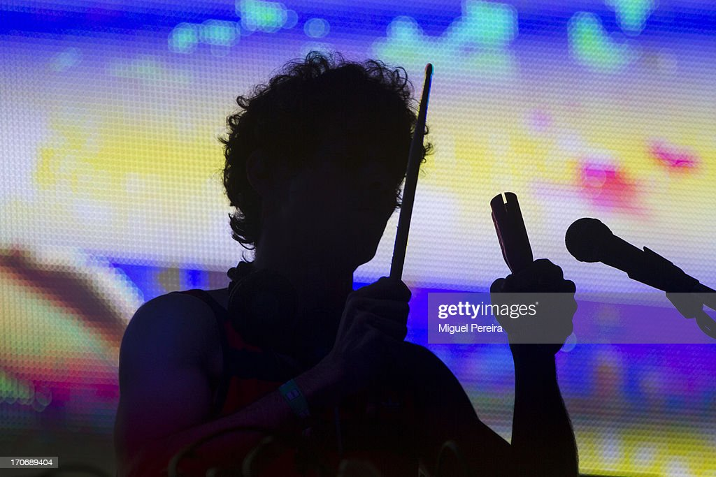 DJ Arnau Obiols performs at Sonar by night on June 15, 2013 in Barcelona, Spain.