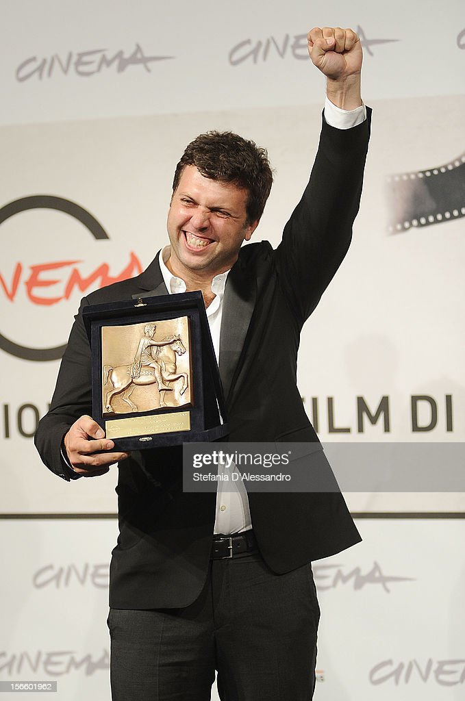 Arnau Valls Colomer poses with his Best Technical Contribution Award during the Award Winners Photocall on November 17, 2012 in Rome, Italy.