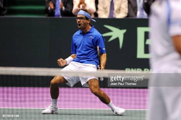 Arnaud CLEMENT 1/2 Finale Coupe Davis 2010 Match 3 Palais des sports de Gerland Lyon