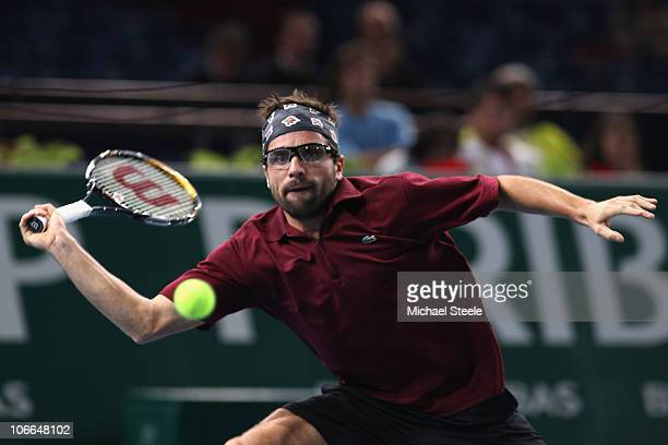 Arnaud Clement of France in action during his second round match against Fernando Verdasco of Spain during Day Three of the ATP Masters Series Paris...