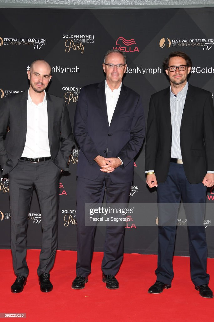 Arnaud Comte, Etienne Leenhardt and Stephane Guillemot attend the golden Nymph nominees party at the Monte Carlo Bay hotel on day 4 of the 57th Monte Carlo TV Festival on June 19, 2017 in Monte-Carlo, Monaco.