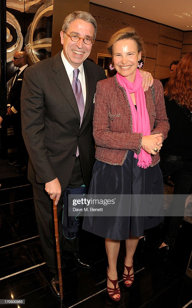 Arnaud de Puyfontaine (L) and wife Benedicte attend a private view of the new CHANEL flagship boutique on New Bond Street on June 10, 2013 in London, England.