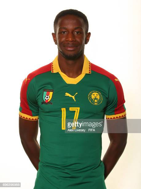 Arnaud Djoum of Cameroon during a portrait shoot ahead of the FIFA Confederations Cup Russia 2017 at the Renaissance Monarch Hotel on June 15 2017 in...