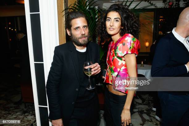 Arnaud Lievin and Brune Buonoman attend the Mastermind Magazine launch dinner as part of Paris Fashion Week Womenswear Fall/Winter 2017/2018 at...