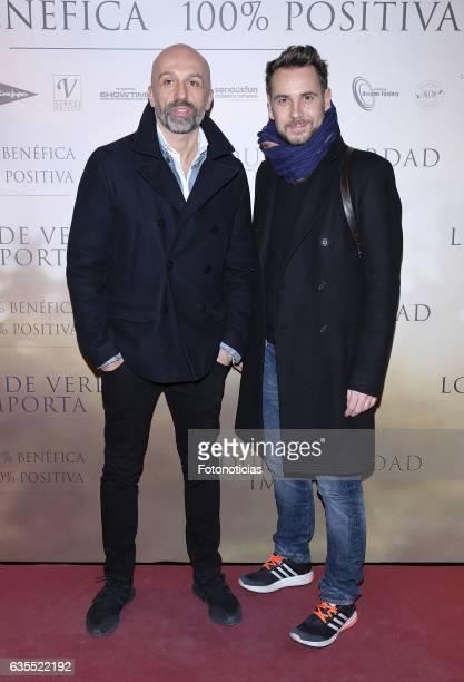 Arnaud Maillard and Alvaro Castejon Alvarno attend the 'Lo Que De Verdad Importa' premiere at the Hotel Vincci Capitol on February 15 2017 in Madrid...
