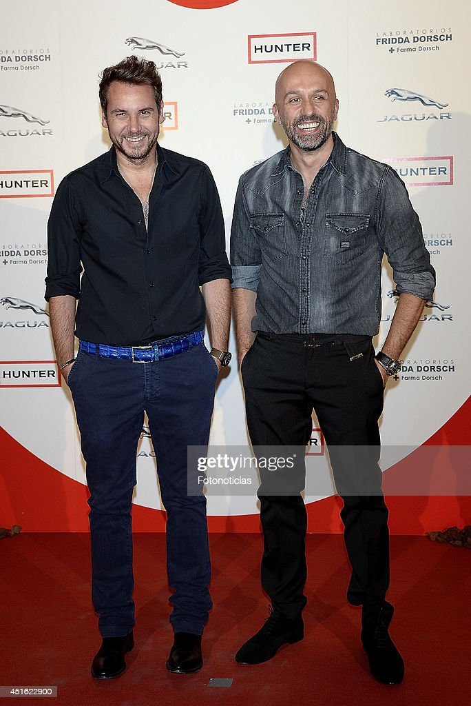 Arnaud Maillard and Alvaro Castejon attend the 'Corazon Solidario' 2014 awards ceremony at Miguel Angel Hotel on July 2, 2014 in Madrid, Spain