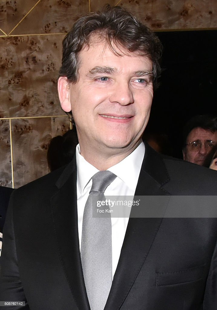 <a gi-track='captionPersonalityLinkClicked' href=/galleries/search?phrase=Arnaud+Montebourg&family=editorial&specificpeople=588268 ng-click='$event.stopPropagation()'>Arnaud Montebourg</a> attends the 'Baby Brand' Awards 2016 Ceremony At Cafe Francais on January 19, 2016 in Paris, France.