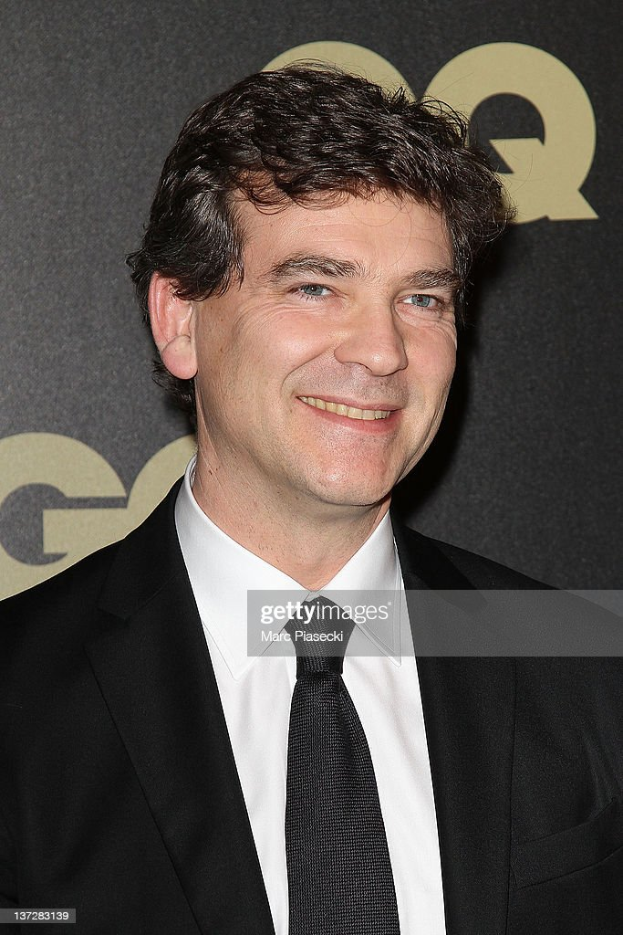 <a gi-track='captionPersonalityLinkClicked' href=/galleries/search?phrase=Arnaud+Montebourg&family=editorial&specificpeople=588268 ng-click='$event.stopPropagation()'>Arnaud Montebourg</a> attends the 'GQ Man Of The Year 2011' photocall at Hotel Ritz on January 18, 2012 in Paris, France.