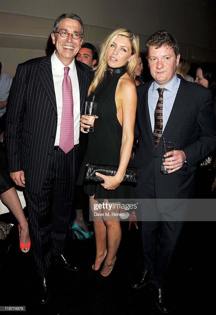 Arnaud Puyfontaine, Abbey Clancy and Alex Bilmes attend the launch of Esquire Magazine's June issue hosted by the magazine's new editor Alex Bilmes and singer Lily Allen on May 5, 2011 in London, England.