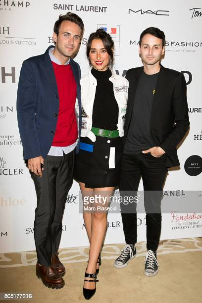 Arnaud Vaillant Chloe Wise and Sebastien Meyer attend the 'ANDAM 2017' Prizewinner cocktail at Ministere de la Culture on June 30 2017 in Paris France