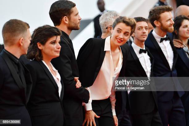 Arnaud Valois Adele Haenel Nahuel Perez Biscayart Antoine Reinartz and Aloise Sauvage attend the Closing Ceremony of the 70th annual Cannes Film...