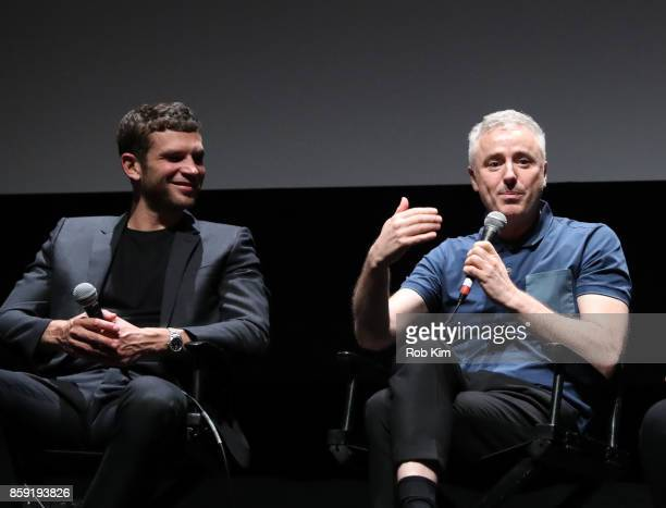 Arnaud Valois and director Robin Campillo attend the QA for the screening of 'BPM ' during the 55th New York Film Festival at Alice Tully Hall on...