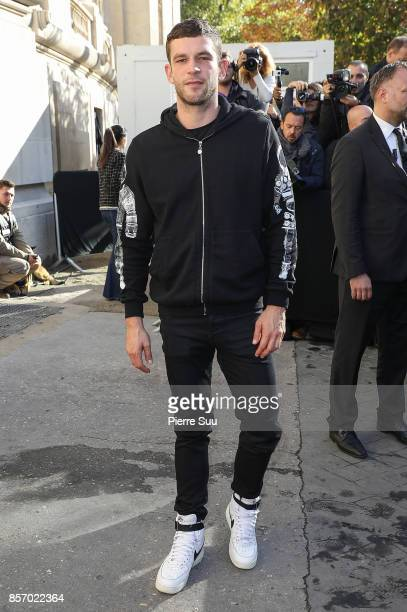 Arnaud Valois arrives at the Chanel show as part of the Paris Fashion Week Womenswear Spring/Summer 2018 on October 3 2017 in Paris France