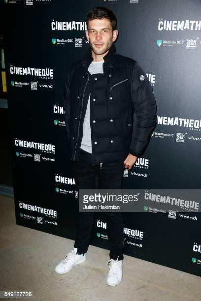 Arnaud Valois attends 'Happy End' Paris Premiere at la cinematheque on September 18 2017 in Paris France