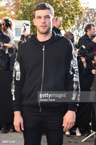 Arnaud Valois is seen arriving at Chanel show during Paris Fashion Week Womenswear Spring/Summer 2018on October 3 2017 in Paris France