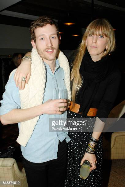 Arnault K and Sarah Math attend SOHO HOUSE hosts The British Bazaar with Anya Hindmarch Cowshed Temperley Nathan Jenden and Rag Bone on February 8...