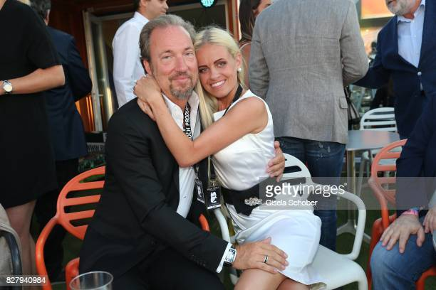 Arne Gobert and his wife Emma GobertEdes attend the Man Doki Soulmates concert during tthe Sziget Festival at Budapest Park on August 8 2017 in...