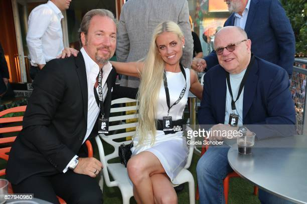 Arne Gobert and his wife Emma GobertEdes Joel Katz attend the Man Doki Soulmates concert during tthe Sziget Festival at Budapest Park on August 8...