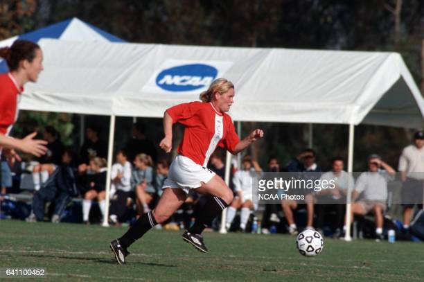 Arne Heimlund of Christian Brothers University dribbles the ball downfield during the Women's Division 2 Soccer Championships at Triton Stadium on...
