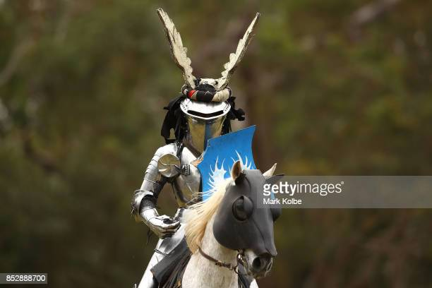 Arne Koets of the Netherlands competes in the World Jousting Championships on September 24 2017 in Sydney Australia The World Jousting Championships...