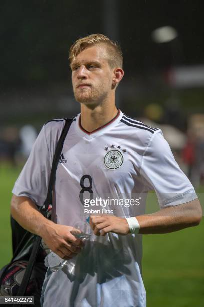 Arne Maier looks on during the U20 international friendly match between U19 Switzerland and U19 Germany on August 31 2017 at Stade SaintLonard in...