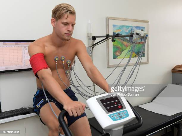 Arne Maier of Hertha BSC during the medicine check up on july 4 2017 in Berlin Germany