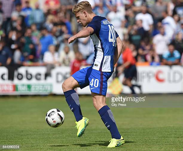 Arne Maier of Hertha BSC during the training match between FC Schwedt 02 and Hertha BSC on july 3 2016 in Berlin Germany