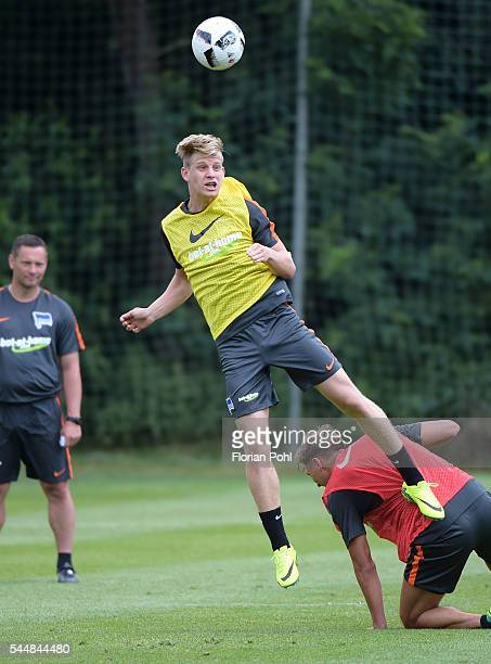 Arne Maier of Hertha BSC during the training of Hertha BSC on july 4 2016 in Bad Saarow Germany