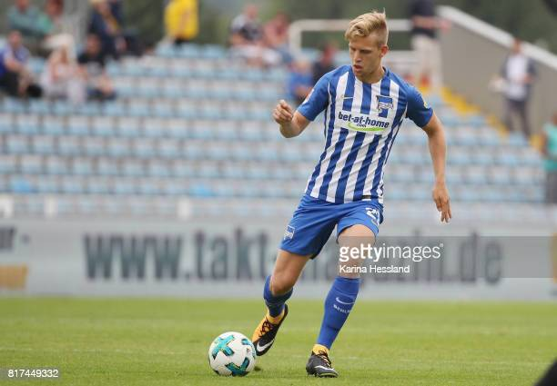 Arne Maier of Hertha during the Preseason Friendly match between FC Carl Zeiss Jena and Hertha BSC on July 16 2017 in Jena Germany