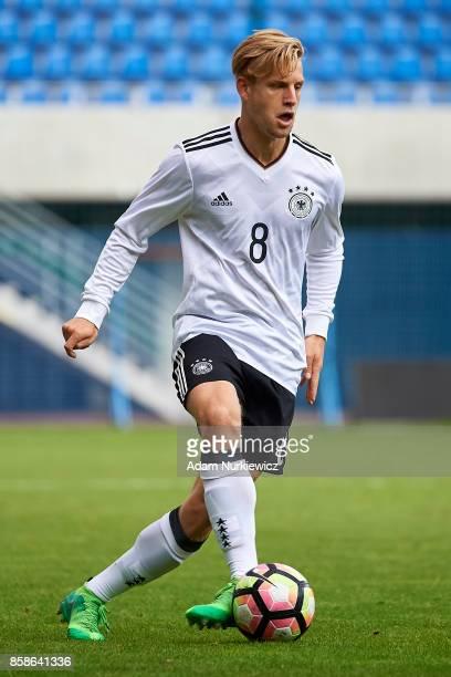 Arne Maier of U19 Germany controls the ball during soccer match U19 Germany v U19 Northern Ireland UEFA Under19 Euro Qualifier on October 7 2017 in...