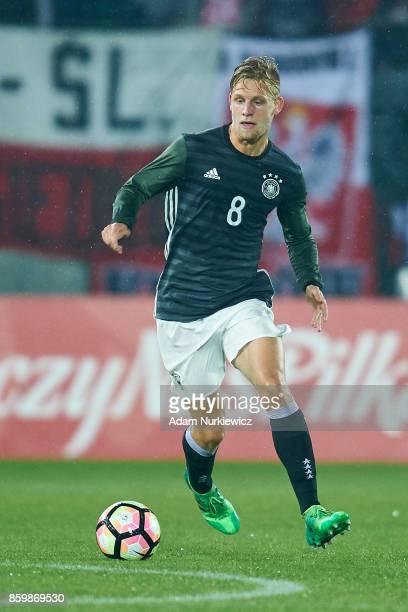 Arne Maier of U19 Germany controls the ball during soccer match U19 Poland v U19 Germany UEFA Under19 Euro Qualifier on October 10 2017 in Zabrze...