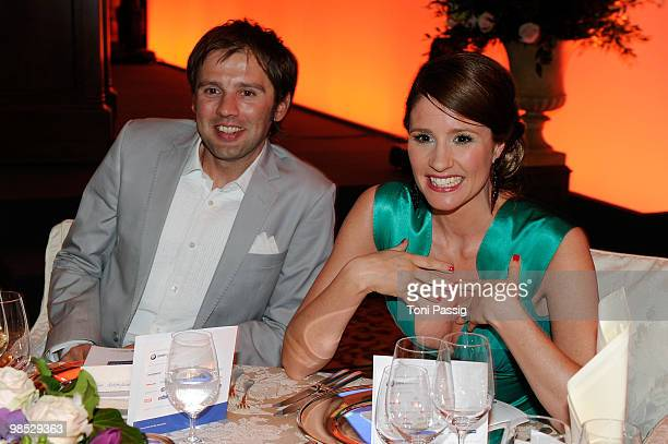Arne Schoenfeld and wife Mareile Hoeppner attends the 'Felix Burda Award' at hotel Adlon on April 18 2010 in Berlin Germany
