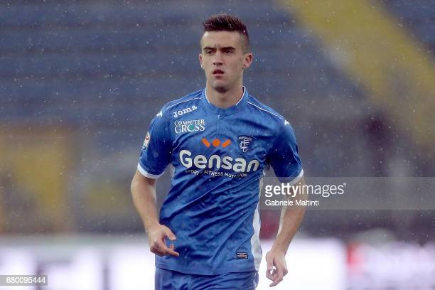 Arnel Jakupovic of Empoli FC in action during the Serie A match between Empoli FC and Bologna FC at Stadio Carlo Castellani on May 7 2017 in Empoli...