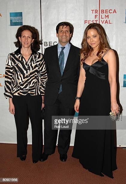 Arnella Talo Francisco Talo and actress Ornella Muti attend the premiere of 'Toby Dammit' during the 2008 Tribeca Film Festival on April 28 2008 in...