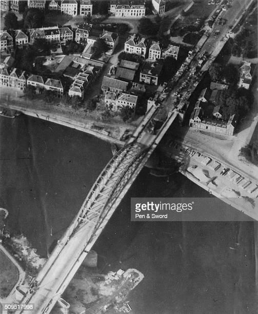 Arnhem bridge after a british attack on a german reconnaissance Netherlands