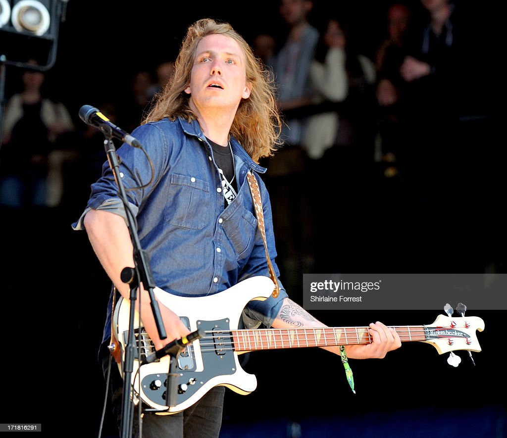 Arni Arnason of The Vaccines performs at day 2 of the 2013 Glastonbury Festival at Worthy Farm on June 28, 2013 in Glastonbury, England.