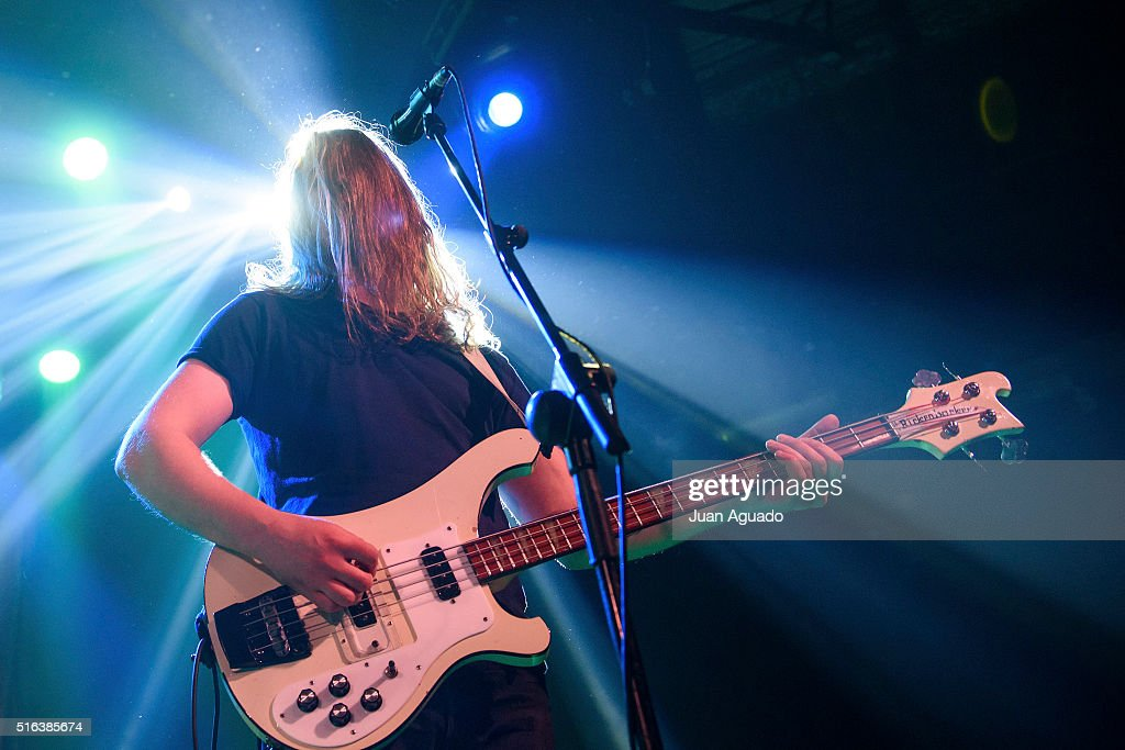 Arni Arnason of The Vaccines performs on stage at Sala La Riviera on March 18 2016 in Madrid Spain