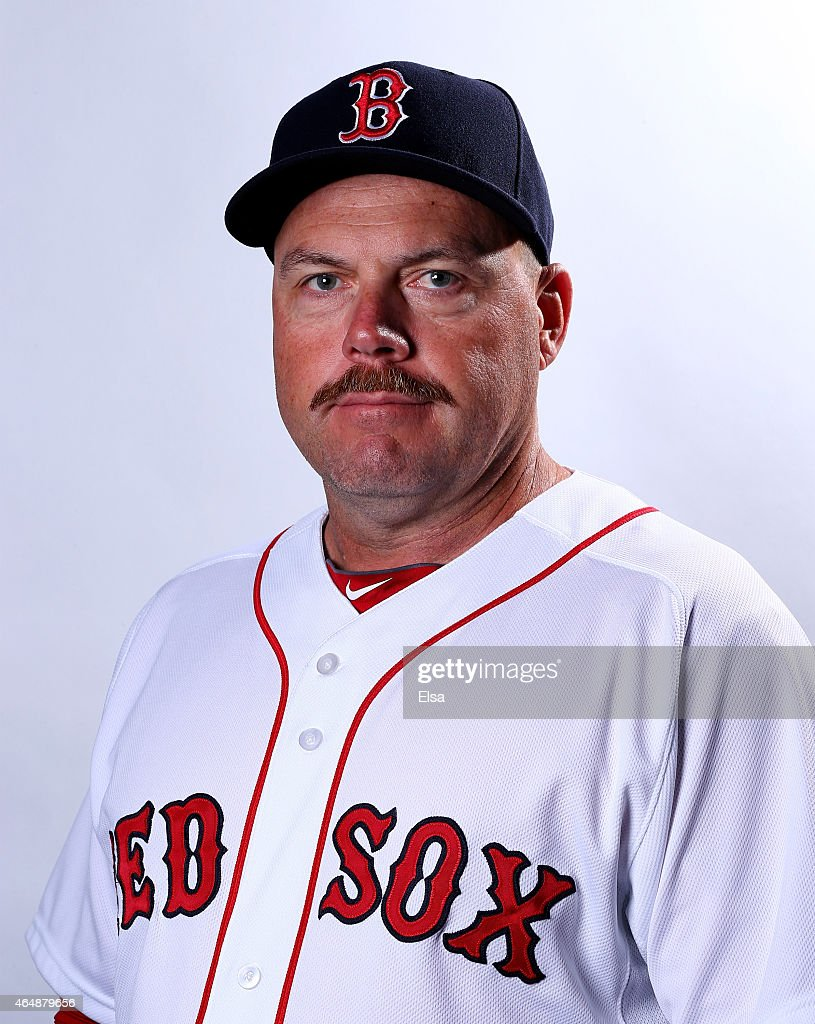 Arnie Beyeler #43 of the Boston Red Sox poses for a portrait on March 1, 2015 at JetBlue Park in Fort Myers, Florida.