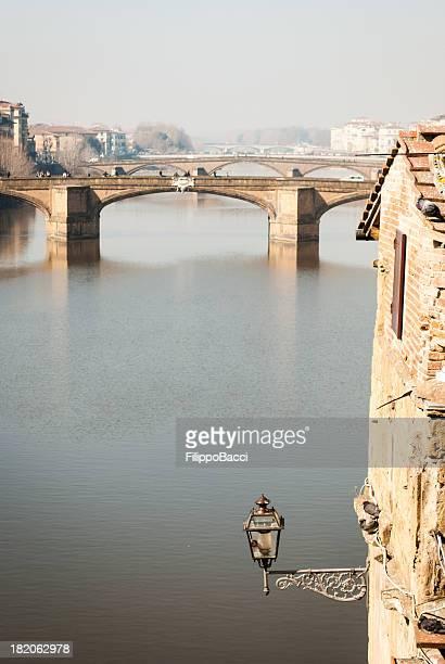 Arno river viewed from Vasari Corridor