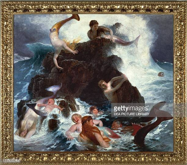 Arnold Bocklin The Game of the Naiads 1896